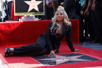 Image: Actress and singer Mary J. Blige attends star ceremony in her honor in Hollywood